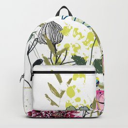 flowers on my head Backpack