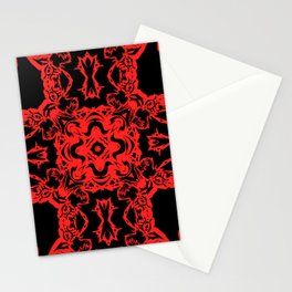 Red n Black Abstract Chaos Stationery Cards