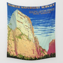 WPA vintage Travel poster - Zion National Park - National Park Service Wall Tapestry