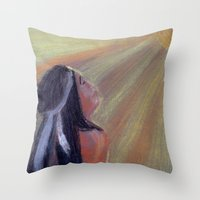 native american Throw Pillows featuring Native American by Ksuhappy
