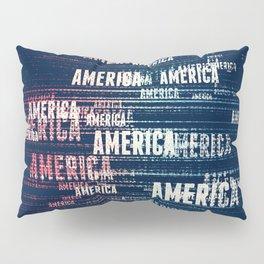 America Typographic Design Pillow Sham