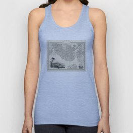 Vintage Map of Boston MA (1838) Unisex Tank Top