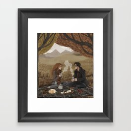 Lily and James, Autumn Picnic Framed Art Print