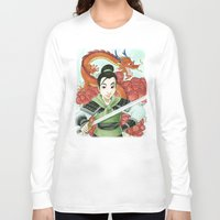 mulan Long Sleeve T-shirts featuring Mulan by Aimee Steinberger