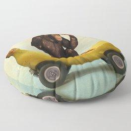 Chimp my Ride Floor Pillow
