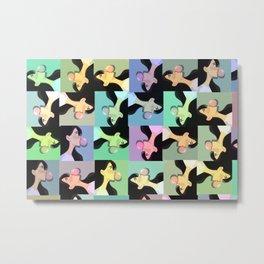 bubble gum pattern Metal Print