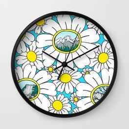 Road to Fernie Flowers Wall Clock