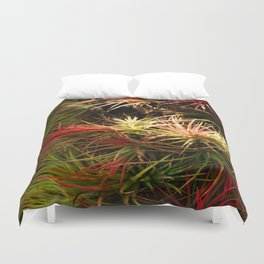 Mini Bromelias Duvet Cover