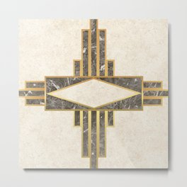 Luxurious gold and marble Metal Print