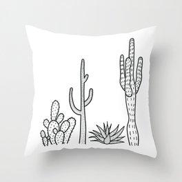 Cactus illustration Throw Pillow