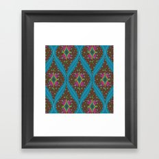 teardrop pattern Framed Art Print