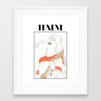 haim Framed Art Prints featuring Danielle Haim by chazstity