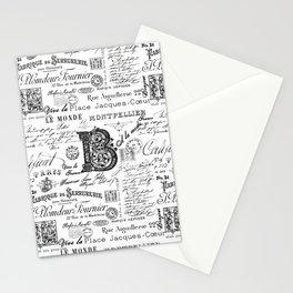 Nostalgic Black And White Vintage Lettering Stationery Cards