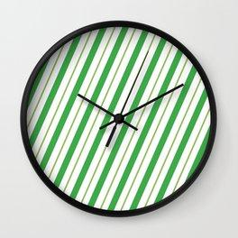Green Peppermint - Christmas Illustration Wall Clock