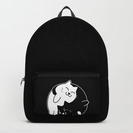 Yin Yang Cats Cute graphic for Cat Lovers Backpack