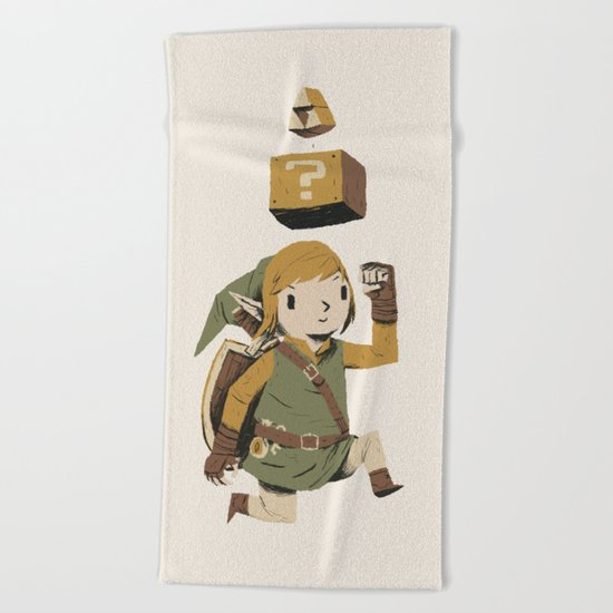 triforce power up Beach Towel