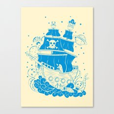 Piratas from outer space Canvas Print