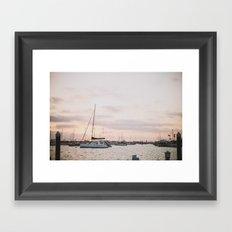 Balboa Sunset Framed Art Print