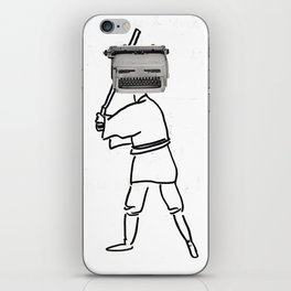 luke typewriter iPhone Skin