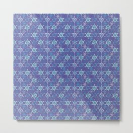 Kaleidoscope Snowflake Metal Print
