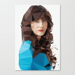 Zooey Deschanel Canvas Print