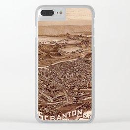 Map Of Scranton 1890 Clear iPhone Case