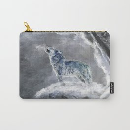 Blue Snow Wolf Carry-All Pouch