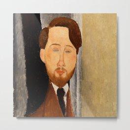 """Amedeo Modigliani """"Portrait of Léopold Zborowski"""" Metal Print"""