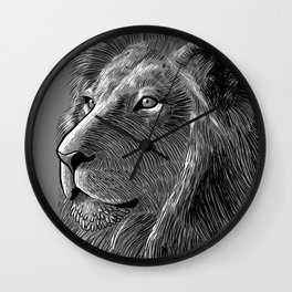 Skecth lion Wall Clock