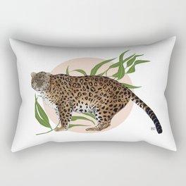 AMUR LEOPARD & FLOWER Rectangular Pillow