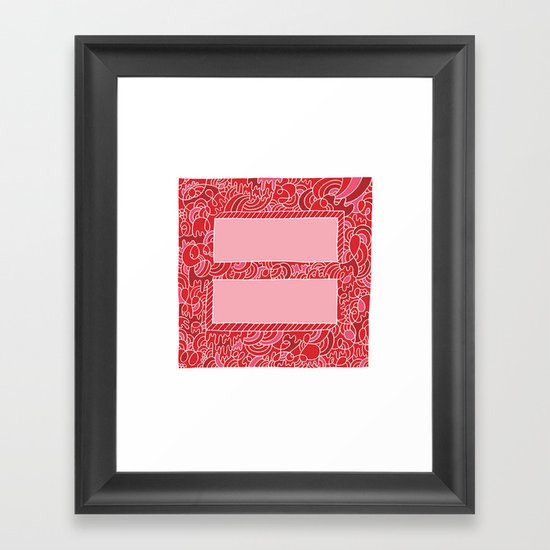 Support Marriage Equality. Framed Art Print