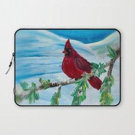Little Red Cardinal Laptop Sleeve