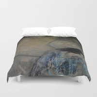 imagerybydianna Duvet Covers featuring dreaming in tennyson's tower by Imagery by dianna