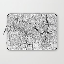 Rome White Map Laptop Sleeve