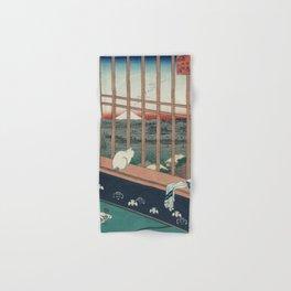 Asakusa Rice Fields, Hiroshige Hand & Bath Towel
