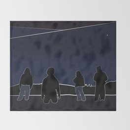 Silhouettes in the Snow Throw Blanket
