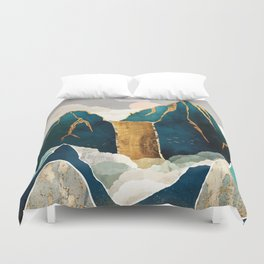 Golden Waterfall Duvet Cover