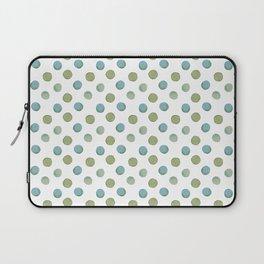 Blue Green Watercolor Dot Pattern Laptop Sleeve