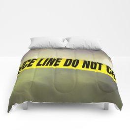 Police Line Do  Not Cross Comforters
