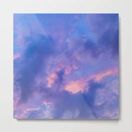 Dusk Clouds Metal Print