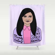 Mindy Kaling is my spirit animal Shower Curtain