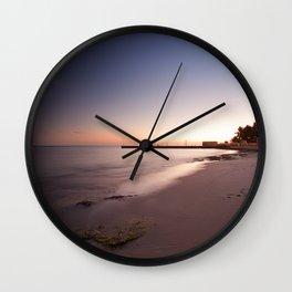 key west at dusk Wall Clock