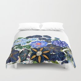 Vintage & Shabby Chic - Blue Flower Summer Meadow Duvet Cover