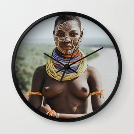 Karo Tribeswoman II Wall Clock