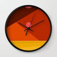 dune Wall Clocks featuring DUNE: ARRAKIS by Greg Stedman