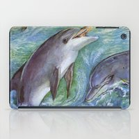 dolphins iPad Cases featuring Dolphins by Natalie Berman