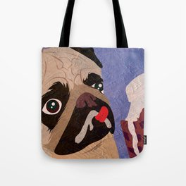 Pug frozen Tote Bag