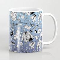seinfeld Mugs featuring Seinfeld Pattern by Jamie Leonard