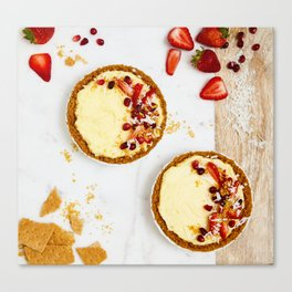 Strawberry Cheesecake Canvas Print