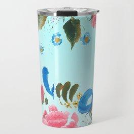 Mums Flowers for Yoga Travel Mug